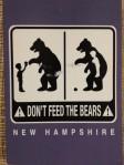 bears - nh postcard
