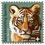 tiger stamp